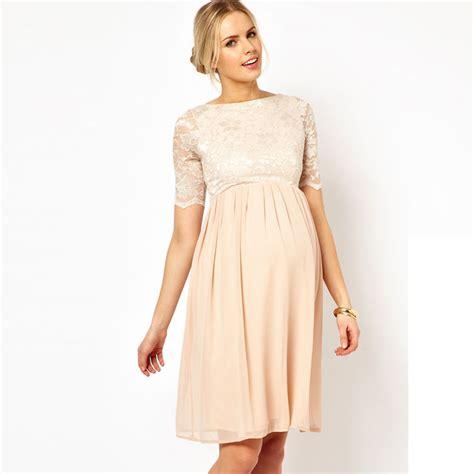 robe de soirã e femme enceinte pour mariage mariage les plus belles robes pour femmes enceintes robe patineuse mi longue en dentelle et