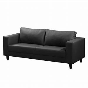 Sofa Kunstleder Schwarz : sofa bexwell 3 sitzer kunstleder schwarz fredriks online kaufen bei woonio ~ Orissabook.com Haus und Dekorationen