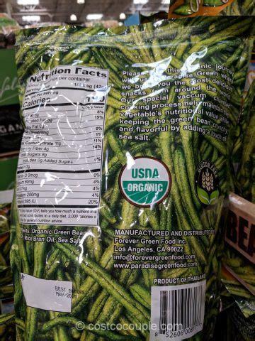 paradise green organic crispy green beans