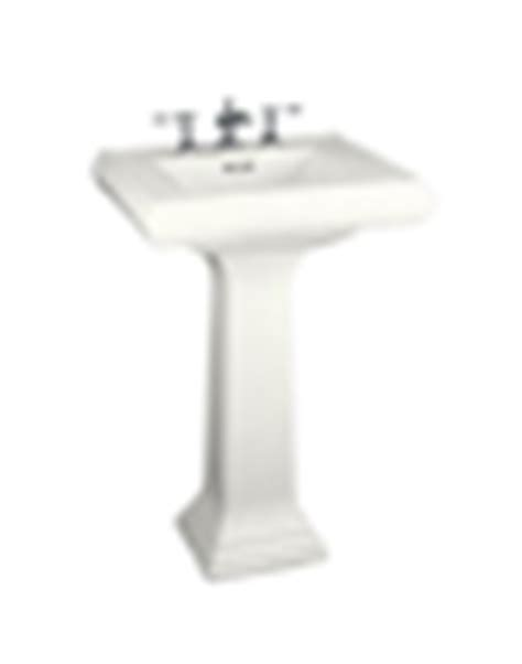 cleaning kitchen sinks kohler k 2238 4 0 memoirs 24 quot pedestal lavatory with 2238