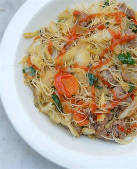 cuisiner vermicelle de riz pancit bihon vermicelles de riz sautés au porc et