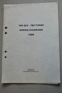 Oem Factory Volvo Wiring Diagram 1988 760 Gle 760 Turbo