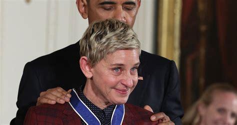 Ellen Degeneres Meme - video ellen degeneres tears up during presidential medal of freedom ceremony blogparser