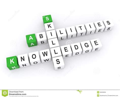 Abilities, Skills And Knowledge Stock Illustration
