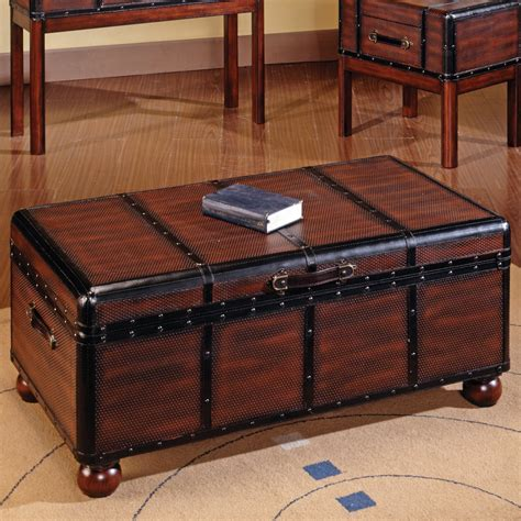 Best chest coffee table ideas. Steve Silver Pacific Trunk Coffee Table at Hayneedle
