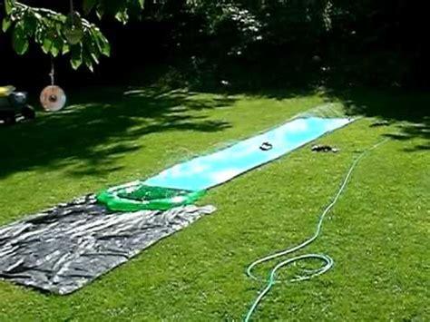 Wasserrutsche Im Garten Macht Richtig Laune Youtube