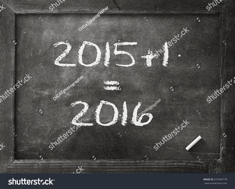 2015 2016 Change Represents The New Year 2015 Black Board