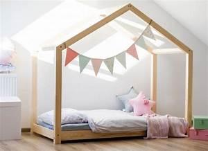 Lit Cabane Enfant : lit cabane maison halma mobilier enfant lit en bois ~ Dode.kayakingforconservation.com Idées de Décoration