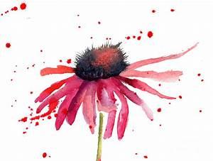 Summer Flowers Painting by Regina Jershova