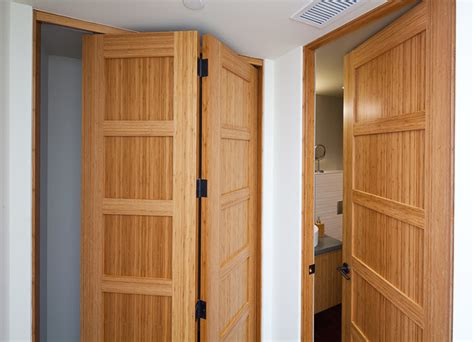 bamboo bifold and passage doors contemporary interior