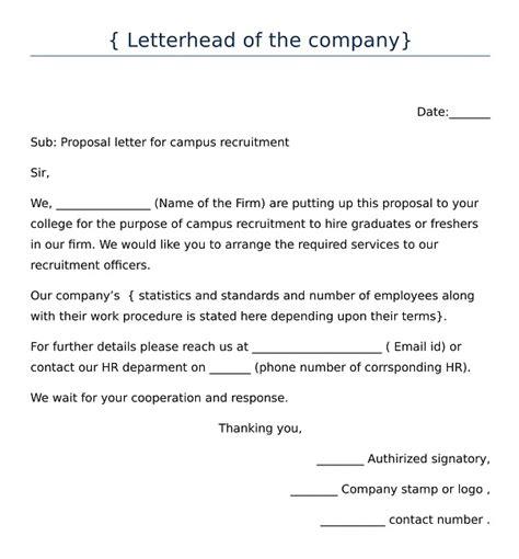 write letter  college  campus recruitment
