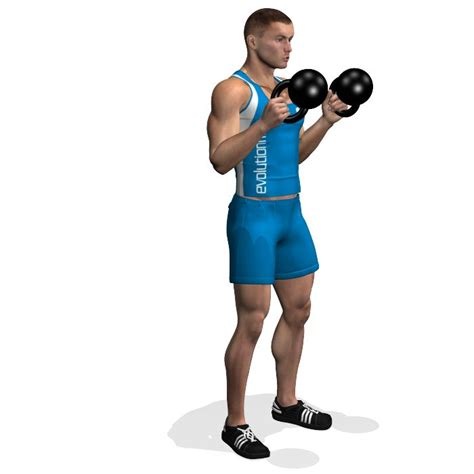 kettlebell curl biceps curls hammer workout exercises exercise muscles kettlebells evolutionfit