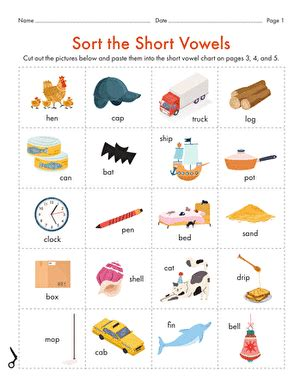 short  vowel worksheet educationcom