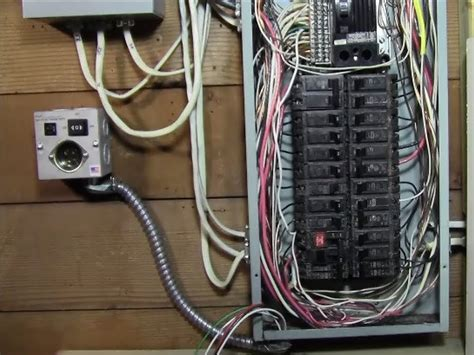 ricksdiy how to wire generator transfer switch to a circuit breaker panel diy install
