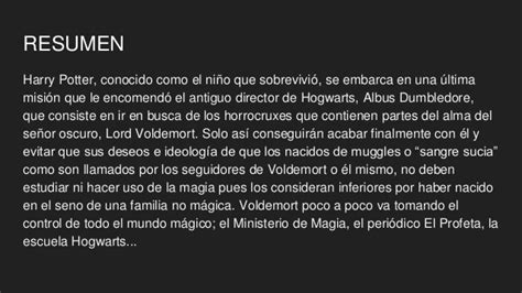 Harry Potter Resumen Corto by Harry Potter Y Las Reliquias De La Muerte