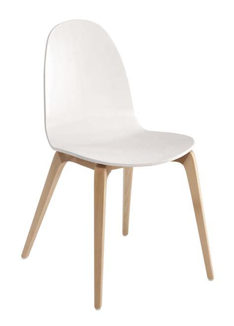 chaises bois blanc chaise bob bois blanc pieds bois ondarreta