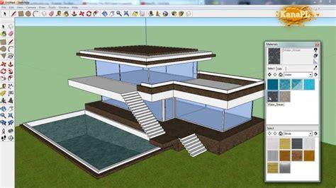 modern house design   google sketchup