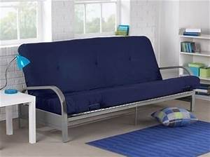 brand new metal futon sofa bed couch with blue full size With blue futon sofa bed
