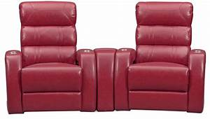 bravo 3 piece power reclining home theater sectional red With red sectional sofa value city