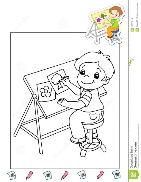 coloring book   works  illustrator stock images