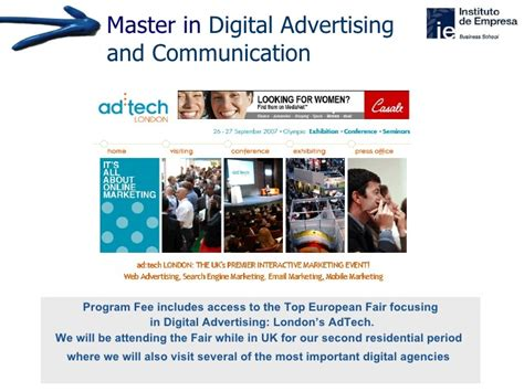 masters in digital marketing master in digital advertising communication ie business