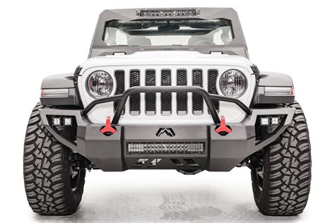 jeep gladiator vengeance front bumpers fab fours