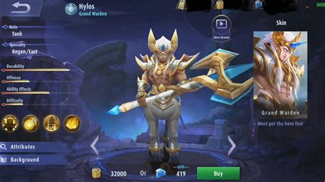 hylos hero mobile legends terbaru ber hp tebal codashop