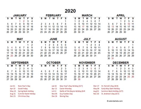 singapore yearly calendar template excel