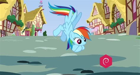 Vlc Animated Wallpaper - mlp fim rainbow dash animated for debian addons