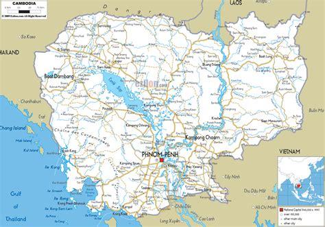cambodia routes map