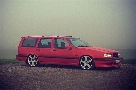 lowered red  wagon volvo  pinterest volvo