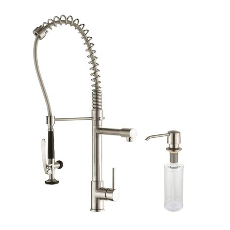 kitchen faucet commercial kraus commercial style single handle pull kitchen