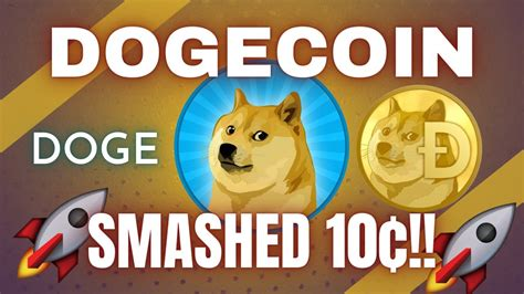 DOGECOIN (DOGE): HITS NEW ALL-TIME HIGHS OVER 10C!!! - YouTube