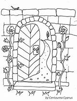 Coloring Gate Garden Wall Pages Gates Cyanus Fairy Innen Mentve Uploaded User sketch template