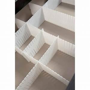 Tiroir De Rangement : s parateur de tiroir blanc pour rangement set de 6 plaques achat vente organisateur de ~ Teatrodelosmanantiales.com Idées de Décoration