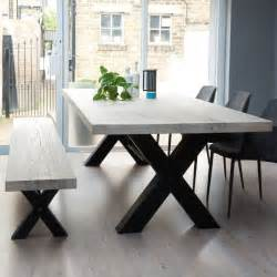 Wood Dining Room Table with Metal Legs