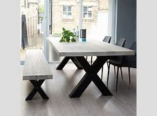 Bolt Solid Wood & Metal Dining Table … Nice furniture