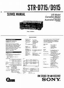 Sony Str-d715  Str-d915 Service Manual