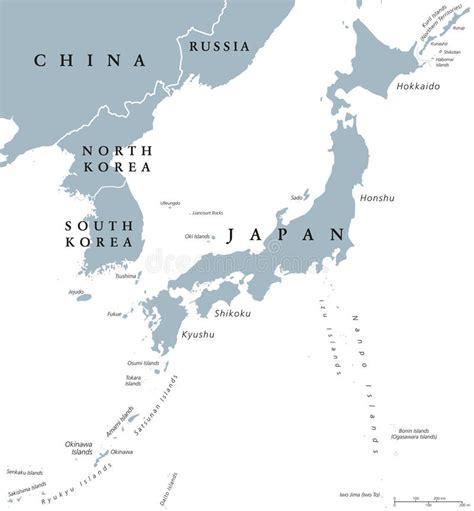 halbinsel auf honshu koreanische halbinsel und politische karte japan l 228 nder