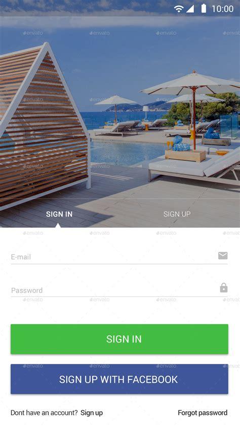 hotel booking material ui  designgrapahma graphicriver