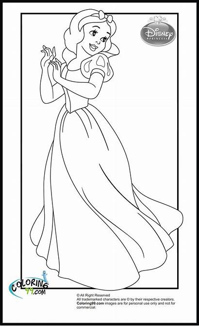 Coloring Disney Princess Pages Snow Colouring Fnac