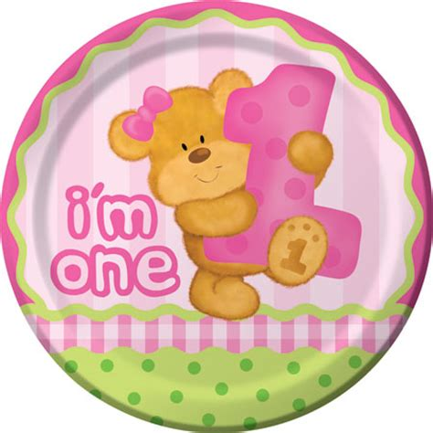 Bears 1st Birthday Girl Party Supplies  Kids Party