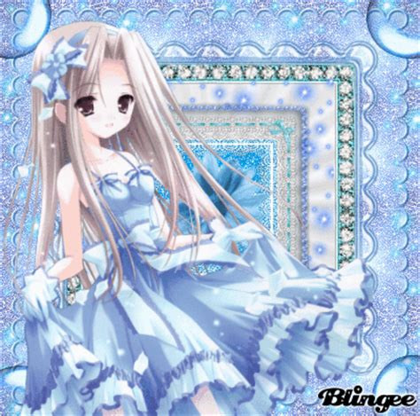 Anime At The Picture 118757582 Blingee Anime Blue White Picture 115506001 Blingee