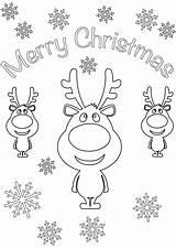 Coloring Merry Card Cards Cartoon Reindeer Santa Printable Reindeers Holidays Sheets Xmas Children Paw Patrol Printables Adults Animal Coloringpagesonly Visit sketch template