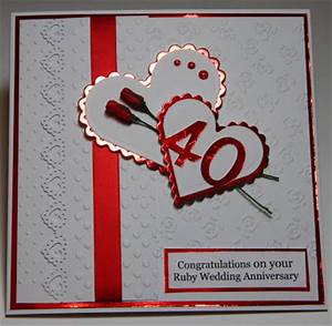 crazy4flowers cards ruby wedding anniversary With images of ruby wedding anniversary cards