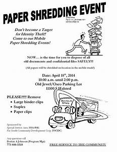paper shredding event in west pullman april 18 2014 With document shredding chicago il