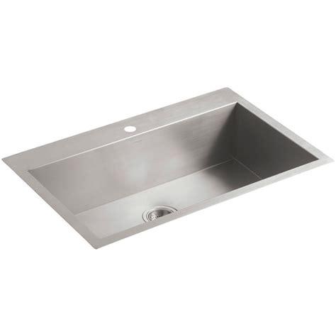 stainless steel single bowl undermount kitchen sink kohler vault drop in undermount stainless steel 33 in 1