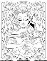 Coloring Disney Colouring Beast Drawing Adult Adults Coloriage Printable Sheets Space Sheet Aesthetic Belle Malvorlagen Rcbrock Hipster Lonely Mandala Ausmalen sketch template