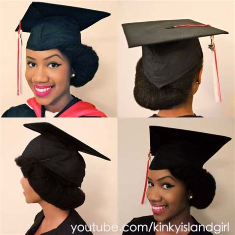 the perfect graduation cap style for natural hair
