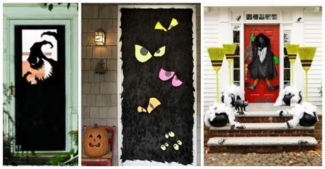fun halloween front doors